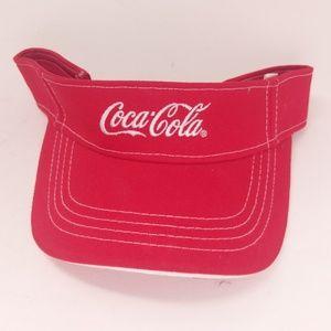 Coca Cola Sun Visor Coke Red Sunvisor Cotton Nice!
